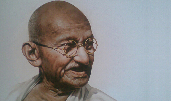 Father of India Mahatma Gandhi