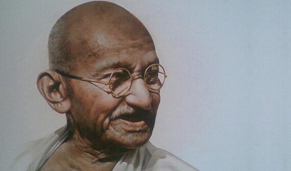 Father of India Mahatma Gandhi